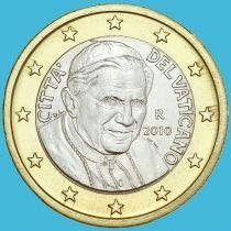 Ватикан 1 евро 2010 год.