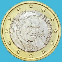 Ватикан 1 евро 2011 год.