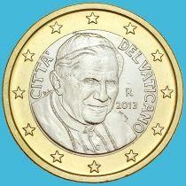 Ватикан 1 евро 2013 год.