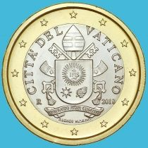Ватикан 1 евро 2018 год.