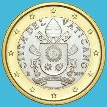 Ватикан 1 евро 2019 год.
