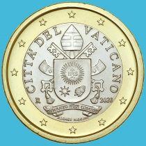 Ватикан 1 евро 2020 год.