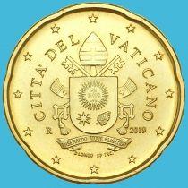 Ватикан 20 евроцентов 2019 года.