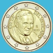 Ватикан 2 евро 2013 год.