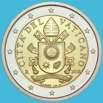 Ватикан 2 евро 2018 год.