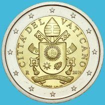 Ватикан 2 евро 2019 год.