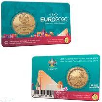Бельгия 2, 5 евро 2021 год.  Евро-2020 и кубок УЕФА. BU, coincard.