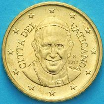 Ватикан 10 евроцентов 2015 года.