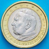 Ватикан 1 евро 2003 год.