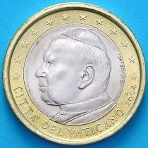 Ватикан 1 евро 2004 год.