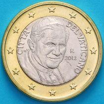 Ватикан 1 евро 2012 год.