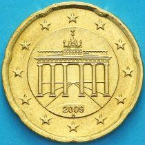 Германия 20 евроцентов 2009 год. А