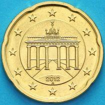 Германия 20 евроцентов 2012 год. А