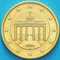 Германия 50 евроцентов 2004 год. А