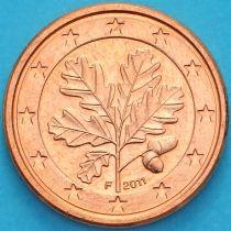 Германия 1 евроцент 2011 год. F