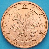 Германия 1 евроцент 2009 год. J