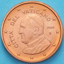 Ватикан 1 евроцент 2016 год. Тип 4