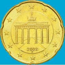 Германия 20 евроцентов 2002 год. F