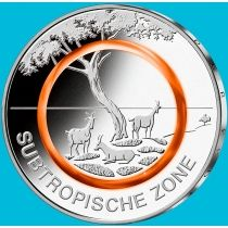 Германия 5 евро 2018 год. Субтропическая зона.  G
