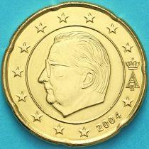 Бельгия 20 евроцентов 2004 год. (тип1)