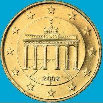Германия 10 евроцентов 2002 год. F