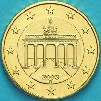 Германия 10 евроцентов 2003 год. D