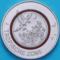 Германия 5 евро 2017 год. Тропическая зона.  G