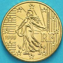 Франция 10 евроцентов 1999 год.