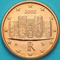 Италия 1 евроцент 2002 год.