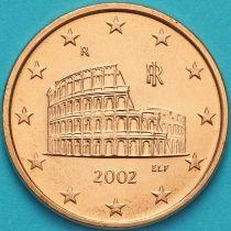 Италия 5 евроцентов 2002 год.