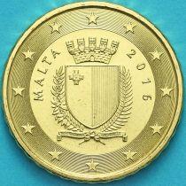Мальта 10 евроцентов 2016 год. F