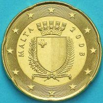 Мальта 20 евроцентов 2008 год.