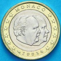 Монако 1 евро 2003 год. Тип 1