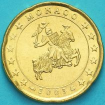 Монако 20 евроцентов 2003 год.