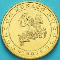 Монако 50 евроцентов 2003 год.