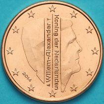 Нидерланды 5 евроцентов 2014 год. (тип 2)