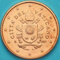 Ватикан 5 евроцентов 2017 год. Тип 2