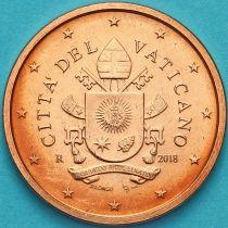 Ватикан 5 евроцентов 2018 год. Тип 2