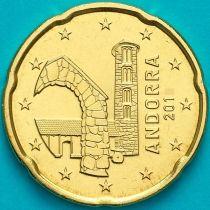Андорра 20 евроцентов 2018 год.