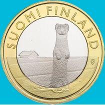 Финляндия 5 евро 2015 год. Горностай