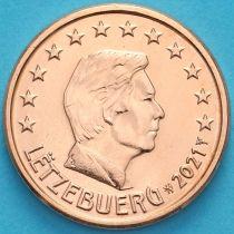 Люксембург 1 евроцент 2021 год. Лев