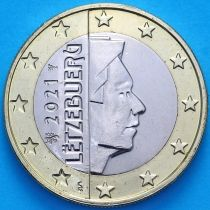 Люксембург 1 евро 2021 год. Лев.