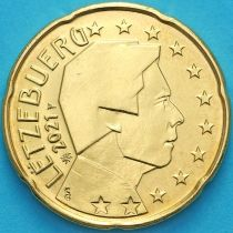 Люксембург 20 евроцентов 2021 год. Лев