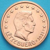 Люксембург 2 евроцента 2021 год. Лев.