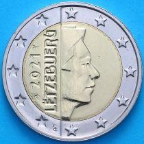 Люксембург 2 евро 2021 год. Лев