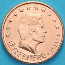 Люксембург 5 евроцентов 2021 год. Лев.
