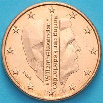 Нидерланды 1 евроцент 2014 год. (тип 2)
