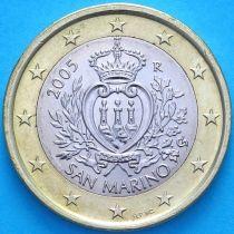 Сан Марино 1 евро 2005 год.