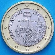 Сан Марино 1 евро 2017 год.