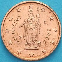 Сан Марино 2 евроцента 2005 год.